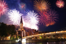 Fireworks Light Up Lyon Sky Ov...
