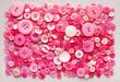 Leinwanddruck Bild - pink buttons background