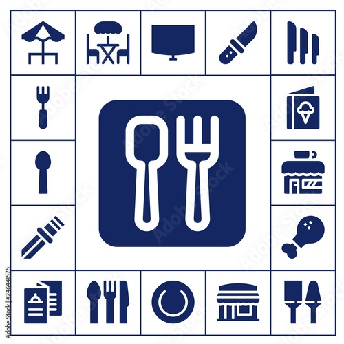 Photo  dining icon set