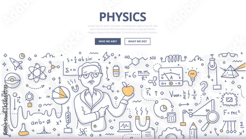 Physics Doodle Concept Canvas-taulu