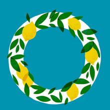 Round Shape With Lemons