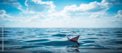 Paper Boat Wallpaper Mural