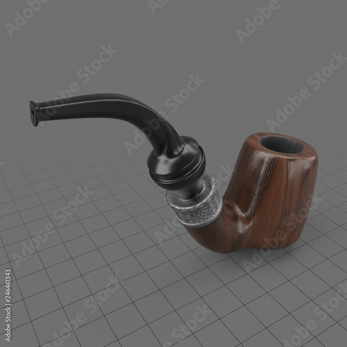 Smoking pipe  Buy this stock 3d asset and explore similar