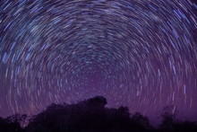 Night Photography Of Star-Trai...