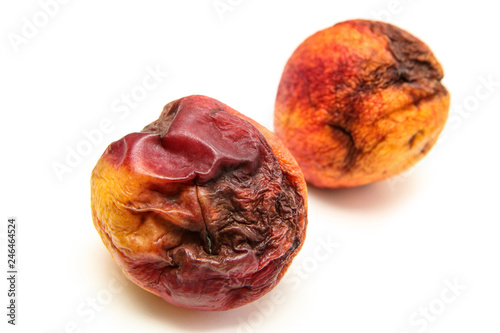 Valokuva  A picture of a rotten nectarine