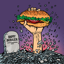 Happy Burger. Fast Food Zombie...