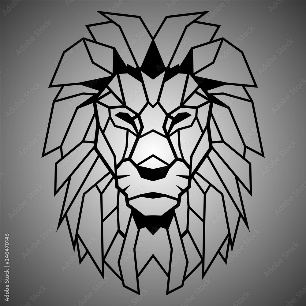 Fototapeta lion polygon