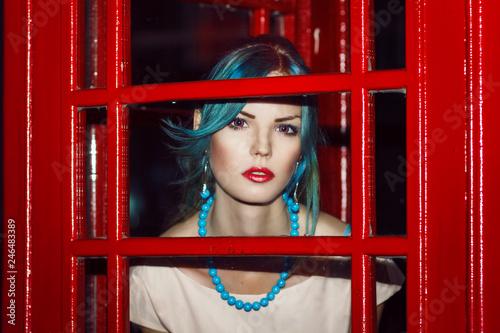 Fotografie, Obraz  Beauty portrait at night