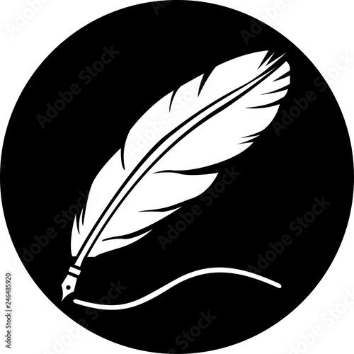 Feather icon. Feather logo isolated on white background #246485920