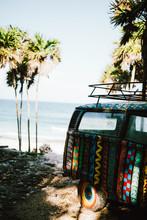 Vintage Classic Van Parked Sid...