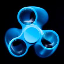 Blue Spinner On A Black Background