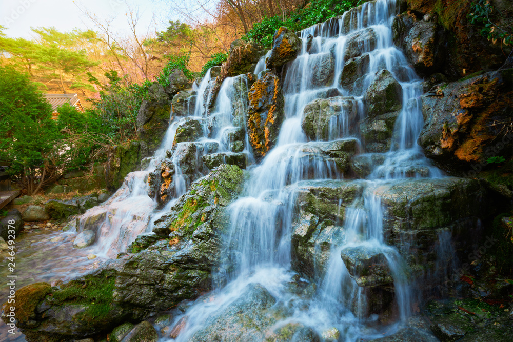 Small waterfall cascade
