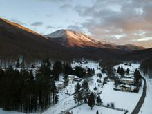 La Cima Del Monte Cervialto Illuminata Dal Tramonto