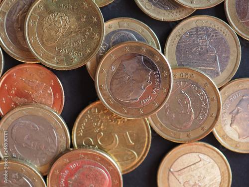 Fotografie, Obraz  Euro coins, European Union