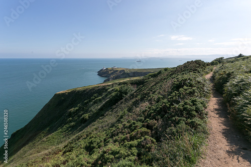 Walking The Howth Cliff Path Loop Buy This Stock Photo And