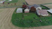 Ariel View Of An Amish Wedding...