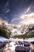Hallett Peak And Flattop Mount...