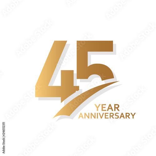 фотография  45 Year Anniversary Vector Template Design Illustration