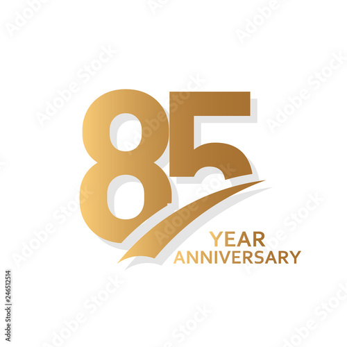 Fotografía 85 Year Anniversary Vector Template Design Illustration