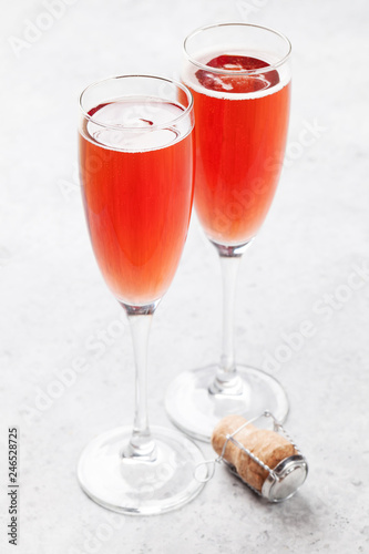 Rose champagne glasses