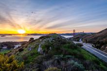 Sunrise Over The Golden Gate B...