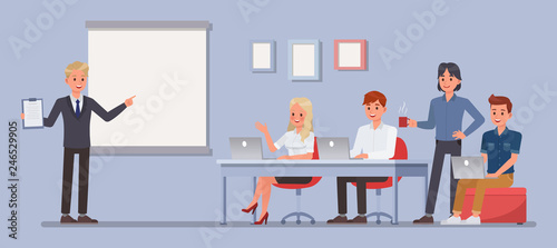 Business people working in office character vector design. no2