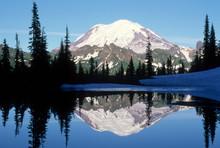 Mount Rainier Lake Reflection Wilderness