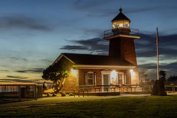 Lighthouse Point (aka Santa Cruz Point) at dusk. Santa Cruz, California, USA.