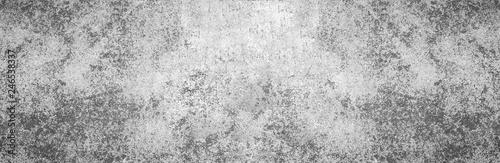 Fotografie, Obraz  Modern grey paint limestone texture wide screen background in white light seam home wall paper