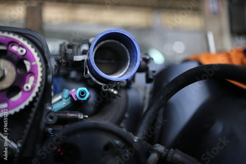 Photo  Modified engine detail