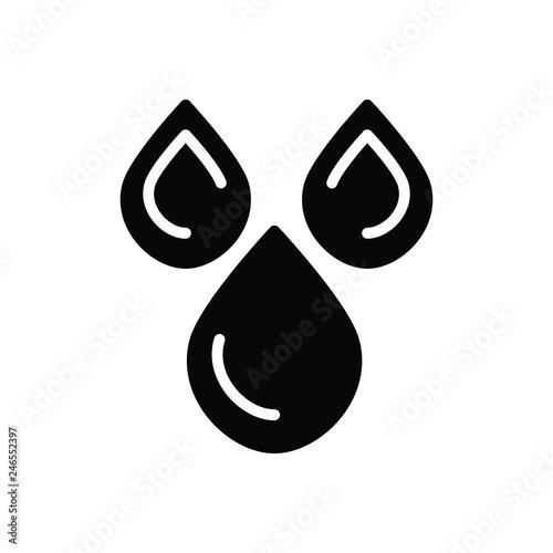 Fotografía  Black solid icon for Oil