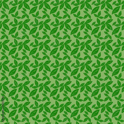 Foto  pattern con piccole foglie verdi