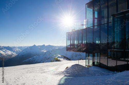 фотография  Peak of the Gaislachkogl Mountain in Solden, Austria