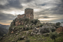 Medieval Castle On A Cliff On ...