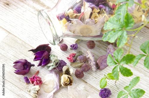 Photo  紫系のポプリ 雑貨