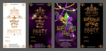 Set Of Mardi Gras Carnival Inv...