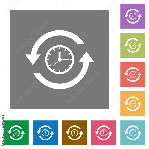 Foto  History square flat icons