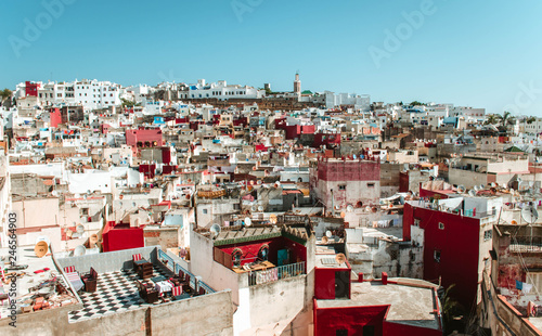 Tangier, Morocco. July, 7/2018: Views of the medina of the Moroccan city of Tangier