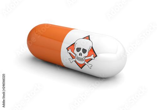 Fototapeta danger medicine pill drugs addiction