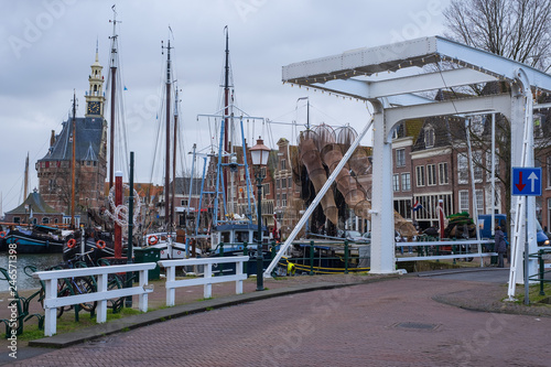 Keuken foto achterwand Poort Der Hafen von Hoorn/NL