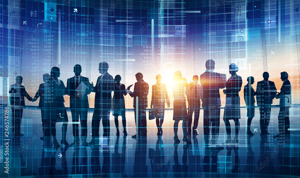 Fototapety, obrazy: Large business group working concept illustration