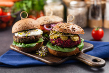 Vege Burgers With Carrots, Bee...