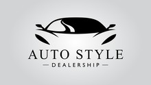Super Car Logo Design With Con...