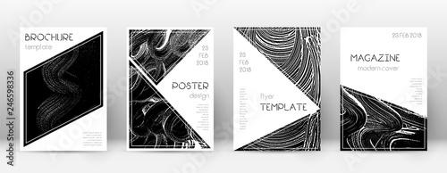 Cuadros en Lienzo Cover page design template. Triangle brochure layo