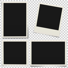 Empty Photo Frames With Shadow...