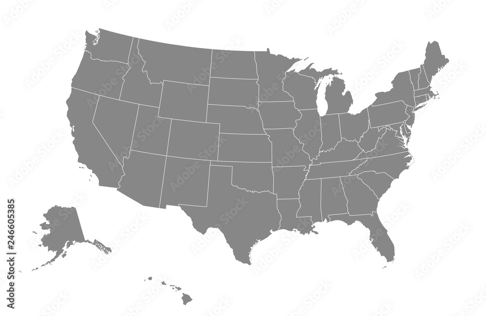 Fototapety, obrazy: USA map. Vector illustration.