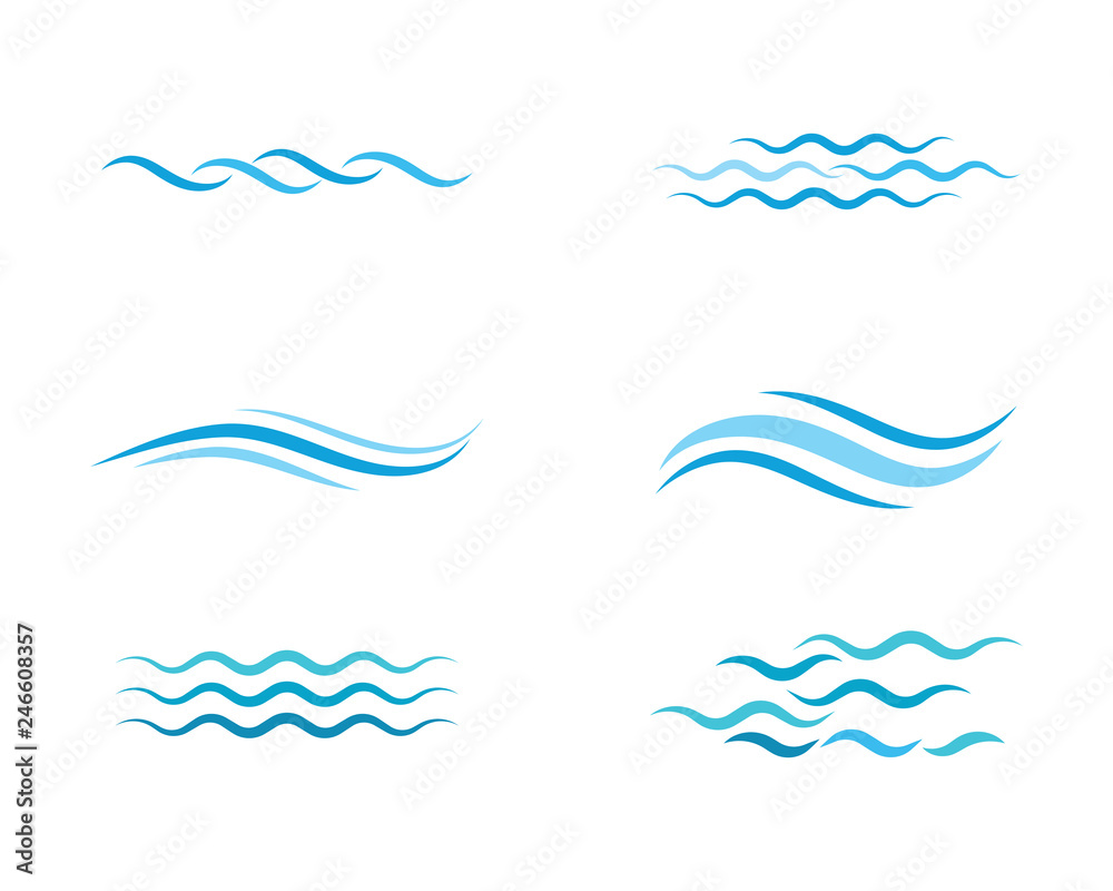Fototapeta Water wave icon vector - obraz na płótnie