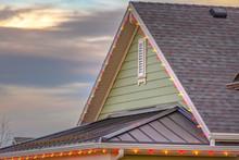 Roof With Christmas Lights Aga...