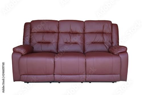 Peachy Wine Red Sofa Recliner Isolated On White Background Buy Inzonedesignstudio Interior Chair Design Inzonedesignstudiocom