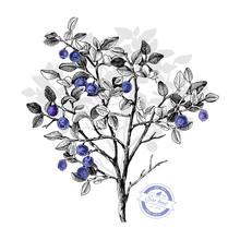 Hand Drawn Bilberry Bush